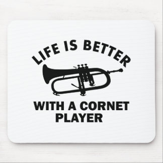 Life is better with a cornetist mouse pad