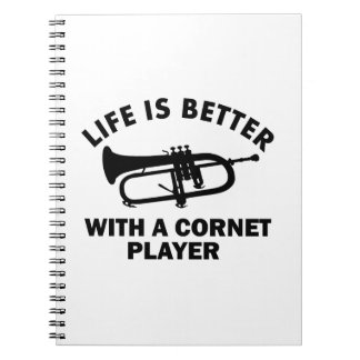 Life is better with a cornetist notebook
