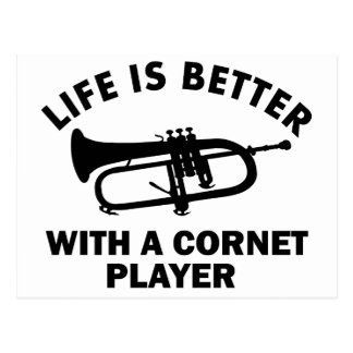 Life is better with a cornetist postcard