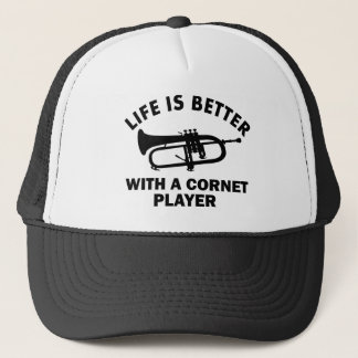 Life is better with a cornetist trucker hat