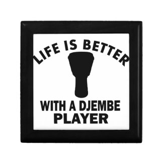 Life is better with a djembe jewelry box