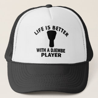 Life is better with a djembe trucker hat