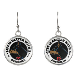 Life Is Better With A Doberman Earrings