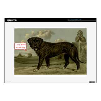 """Life is better with a dog 15"""" laptop skins"""