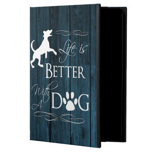 Life is better with a Dog Case For iPad Air - Blue