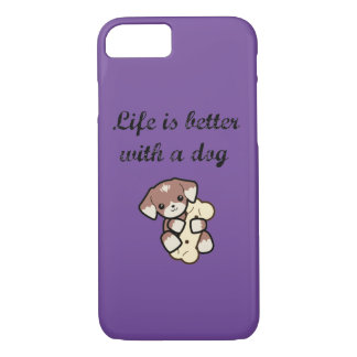 Life is better with a dog. iPhone 7 case