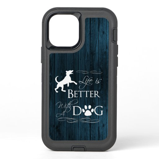Life is better with a Dog iPhone Case - Blue