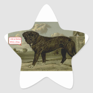 Life is better with a dog star sticker