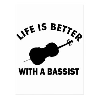 Life is better with a double bass postcard