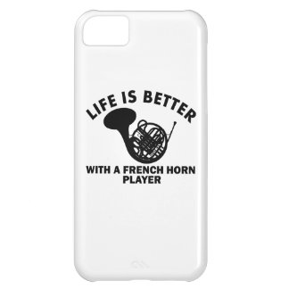 Life is better with a french horn iPhone 5C case