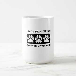 Life Is Better With A German Shepherd Classic White Coffee Mug