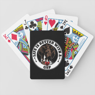 Life Is Better With A GSP Dog Breed Bicycle Playing Cards