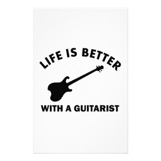 Life is better with a GUITARIST Stationery