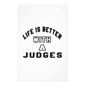Life Is Better With A Judges Stationery Design