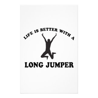 Life is better with a Long Jumper Custom Stationery