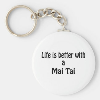 Life Is Better With A Mai Tai Keychain