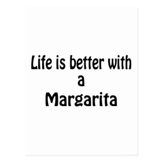 Life Is Better With A Margarita Postcard