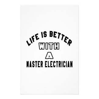 Life Is Better With A Master Electrician Personalized Stationery