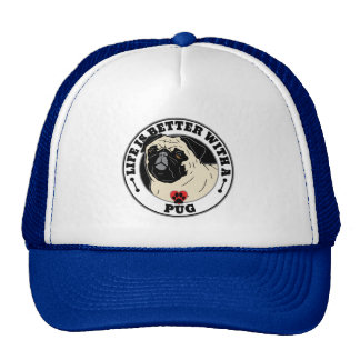 Life Is Better With A Pug Dog Breed Trucker Hat