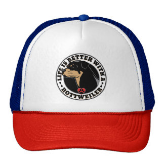 Life Is Better With A Rottweiler Dog Breed Trucker Hat