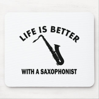 Life is better with a saxophonist mouse pad