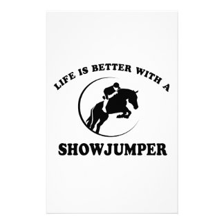 Life is better with a Show Jumper Customized Stationery