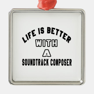 Life Is Better With A Soundtrack composer Christmas Ornament