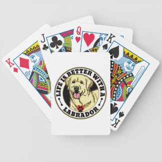 Life Is Better With A White Labrador Dog Breed Bicycle Playing Cards