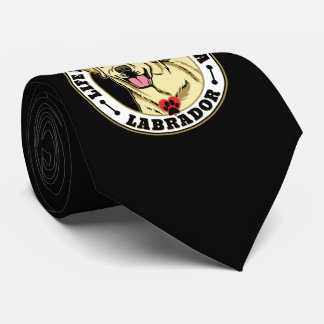 Life Is Better With A White Labrador Dog Breed Tie