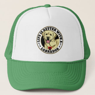 Life Is Better With A White Labrador Dog Breed Trucker Hat