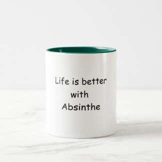Life Is Better With Absinthe Two-Tone Coffee Mug