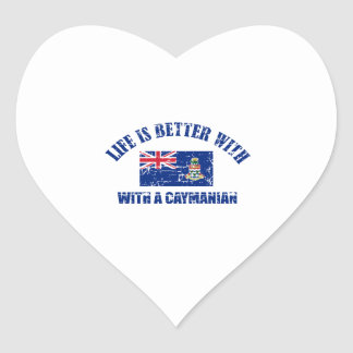 Life is better with an CAYMANIAN Heart Sticker