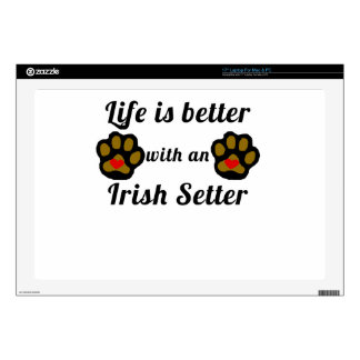 Life Is Better With An Irish Setter Decal For Laptop