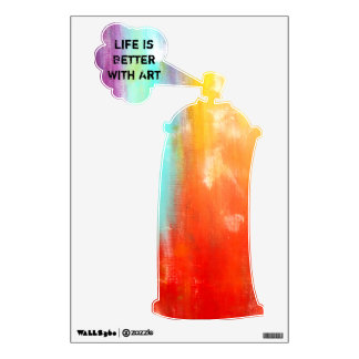 Life Is Better With Art Spray Paint Can Wall Decal