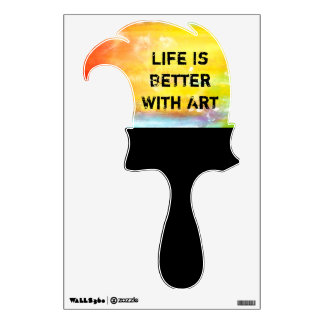 Life Is Better With Art Wall Sticker
