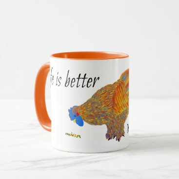 Coffee Themed Life is Better With Chickens Mug