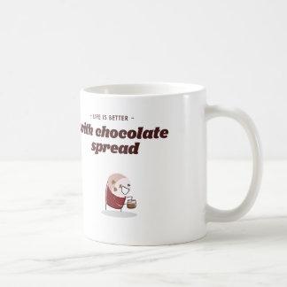 Life is better with chocolate spread coffee mug