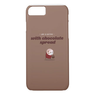 Life is better with chocolate spread iPhone 7 case