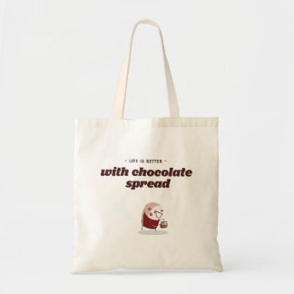 Life is better with chocolate spread tote bag