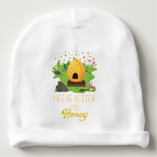 Life Is Better with Honey Environmental Beekeeper Baby Beanie