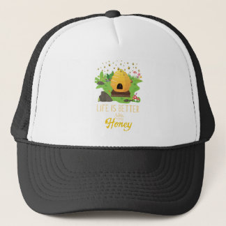 Life Is Better with Honey Environmental Beekeeper Trucker Hat