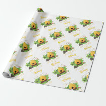 Life Is Better with Honey Environmental Beekeeper Wrapping Paper