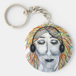 Life Is Better With Music Art Key Chains