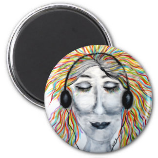 Life Is Better With Music Art Round Refrigerator Magnets