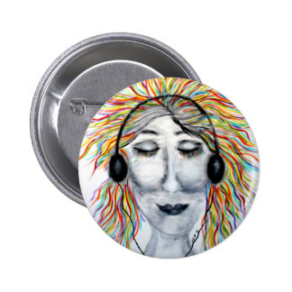 Life Is Better With Music Art Round Pinback Button