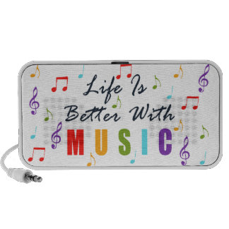 Life Is Better With Music Mini Speaker