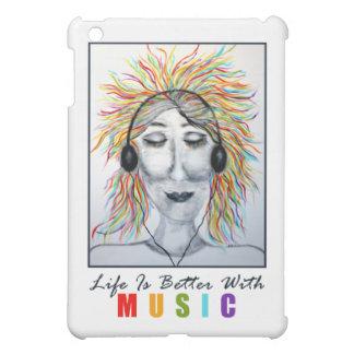 Life Is Better With Music (w/text) Art iPad Skin iPad Mini Cases