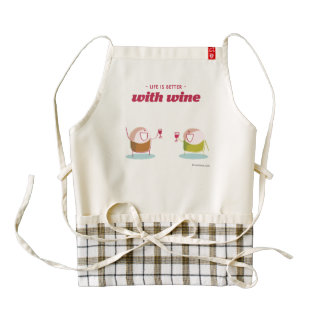 Life is better with wine zazzle HEART apron