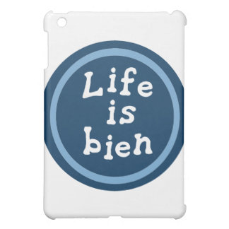 Life is bien iPad mini cover