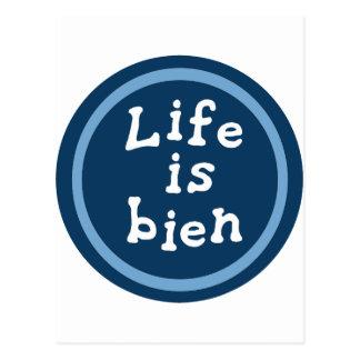 Life is bien postcard